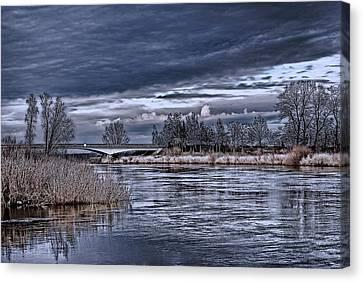 Autumn Riverscape Canvas Print by Joachim G Pinkawa