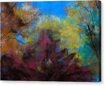 Autumn Splendor Canvas Print by Susan Elise Shiebler