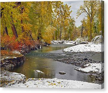 Autumn Stillness Canvas Print by Leland D Howard