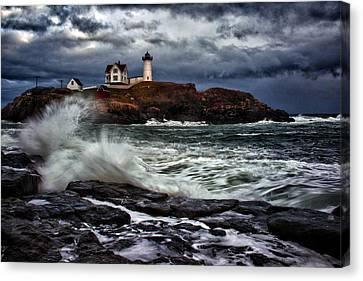 Autumn Storm At Cape Neddick Canvas Print by Rick Berk