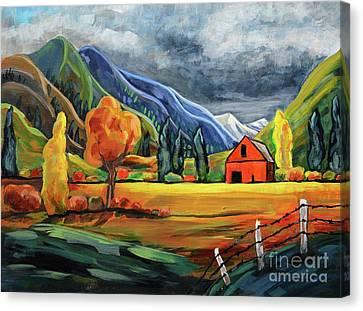 Autumn Storm Canvas Print by Harriet Peck Taylor
