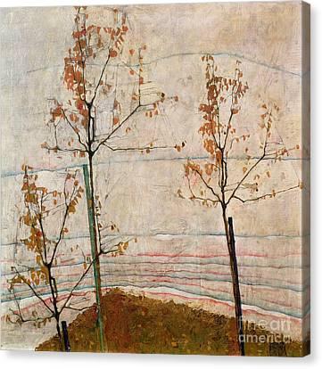Autumn Trees Canvas Print by Egon Schiele