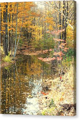Autumn Vintage Landscape 1 Canvas Print by Lanjee Chee