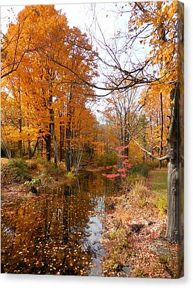 Autumn Vintage Landscape 2 Canvas Print by Lanjee Chee