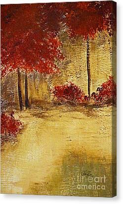 Autumn Walk Canvas Print by Cheryl Rose