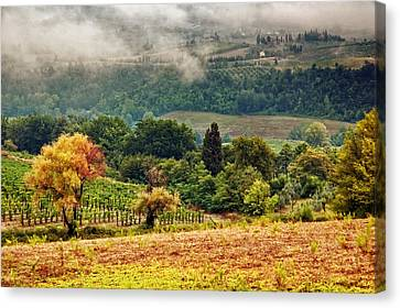 Autumnal Hills Canvas Print by Silvia Ganora