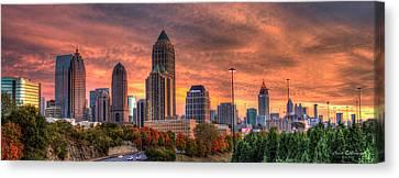 Autumns Glow Atlanta Sunset Art Canvas Print by Reid Callaway