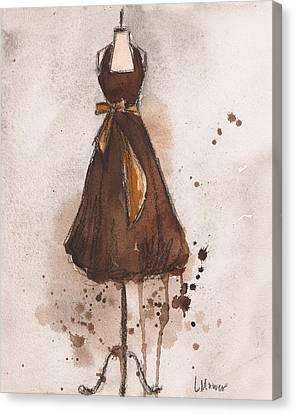 Autumn's Gold Vintage Dress Canvas Print by Lauren Maurer