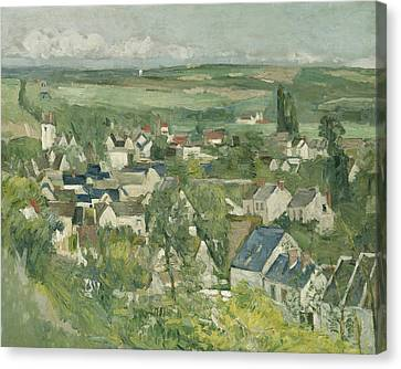 Auvers, Panoramic View Canvas Print by Paul Cezanne