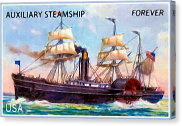 Auxiliary Steamship Canvas Print by Lanjee Chee