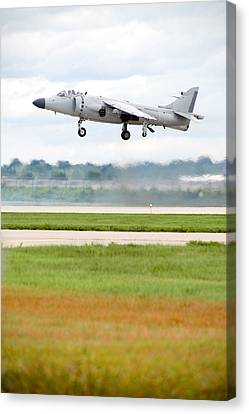 Av-8 Harrier Canvas Print by Sebastian Musial