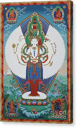 Avalokiteshvara Lord Of Compassion Canvas Print by Sergey Noskov