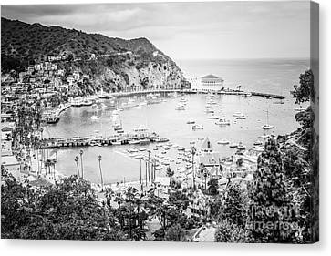 Avalon California Black And White Photo Canvas Print by Paul Velgos