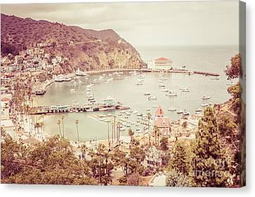 Avalon California Catalina Island Retro Photo Canvas Print by Paul Velgos