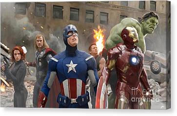 Avengers Canvas Print by Paul Tagliamonte