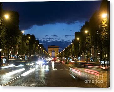 Avenue Des Champs Elysees. Paris Canvas Print by Bernard Jaubert