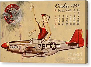 Aviation 1953 Canvas Print by Cinema Photography