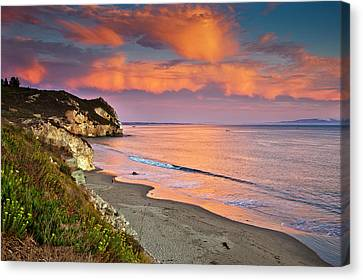 Avila Beach At Sunset Canvas Print by Mimi Ditchie Photography