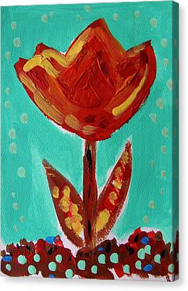 Avis-flowers From The Flower Patch Canvas Print by Mary Carol Williams