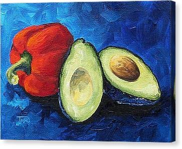 Avocado And Pepper  Canvas Print by Torrie Smiley