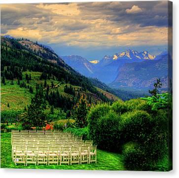 Awaiting The Bride Canvas Print by Dale Stillman
