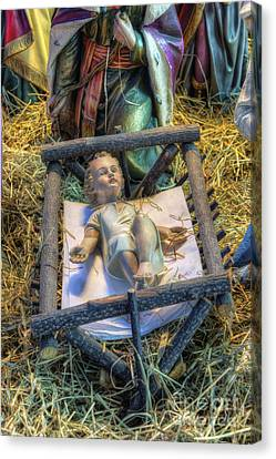 Away In A Manger Canvas Print by Ian Mitchell