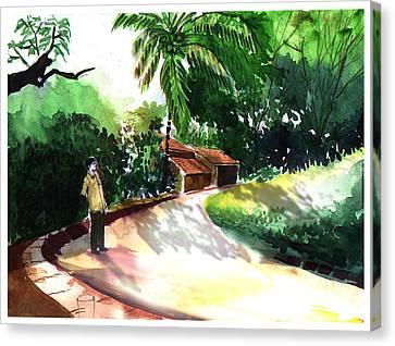 Awe Canvas Print by Anil Nene