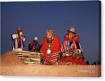 Aymara New Year Ceremonies Bolivia Canvas Print by James Brunker