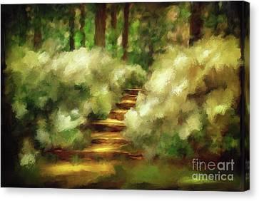 Azalea Stairs Canvas Print by Lois Bryan