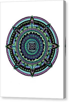 Azteca Canvas Print by Elizabeth Davis