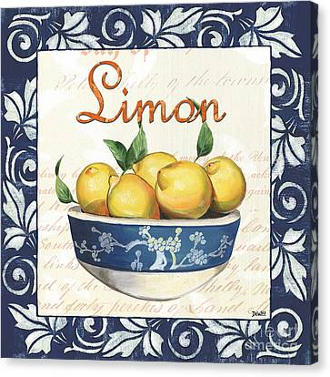 Azure Lemon 3 Canvas Print by Debbie DeWitt