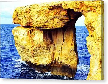 Azure Window Island Of Gozo Canvas Print by Thomas R Fletcher