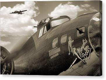 B - 17 Memphis Belle Canvas Print by Mike McGlothlen