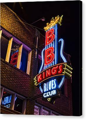 B B Kings On Beale Street Canvas Print by Stephen Stookey