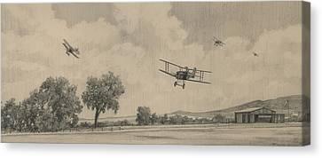 B Flights Back Canvas Print by Wade Meyers