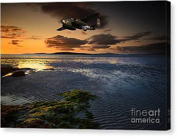 B25 Mitchell Bomber Canvas Print by Stephen Smith