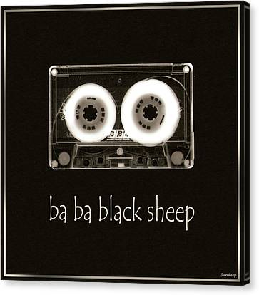Ba Ba Black Sheep Canvas Print by Sandy