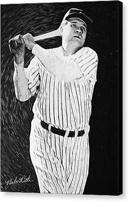 Babe Ruth Canvas Print by Taylan Apukovska