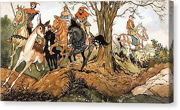 Babes In The Wood Canvas Print by Jesus Blasco