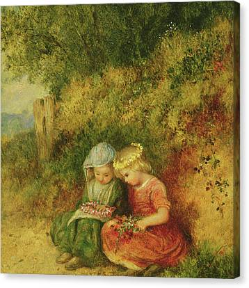 Babes In The Wood Canvas Print by John H Dell