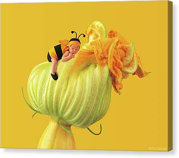 Baby Bee Canvas Print by Anne Geddes