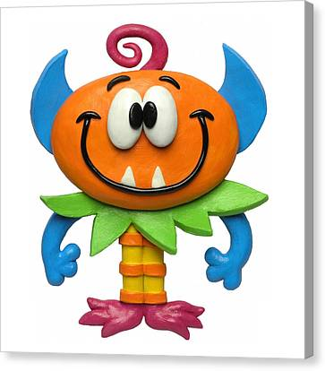 Baby Monster Canvas Print by Amy Vangsgard