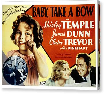 Baby Take A Bow, Shirley Temple, Claire Canvas Print by Everett