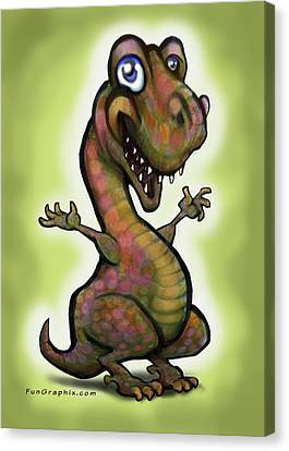 Babysaurus Rex Canvas Print by Kevin Middleton