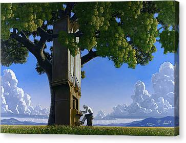 Bach In Heaven Canvas Print by Jonathan Day