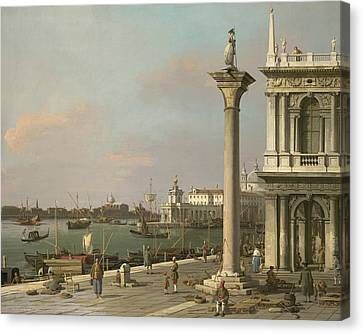 Bacino Di S. Marco - From The Piazzetta Canvas Print by Canaletto