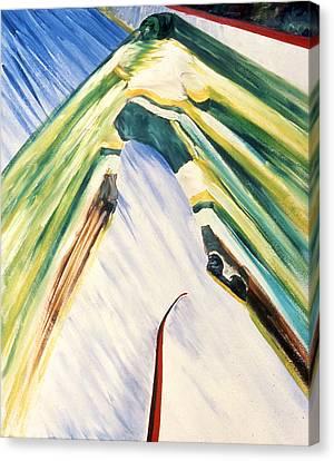 Back Checking Canvas Print by Ken Yackel