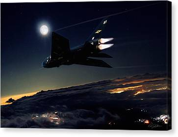Back In Black Canvas Print by Peter Chilelli