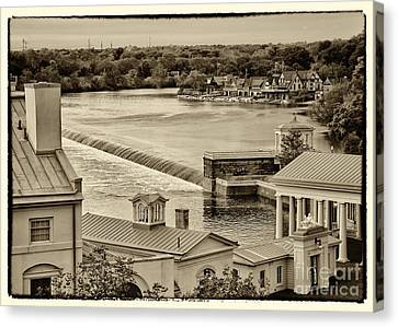 Back Of Water Works Canvas Print by Jack Paolini