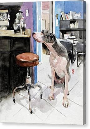 Back Office Canvas Print by Debra Jones